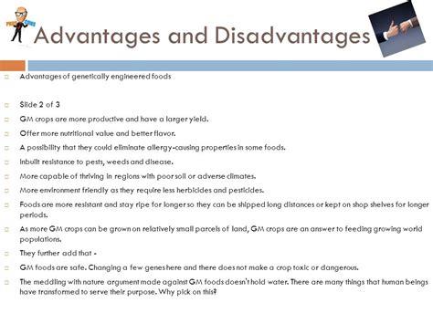 disadvantages of genetically modified food operatesmartertk